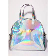 holographic bags sugar thrillz holographic bowler weekender bag 27 liked on