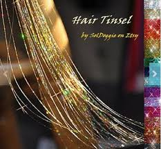 laser hair extensions hair tinsel laser hair extensions your own colors 40 inches