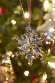swarovski snowflake ornament tree display