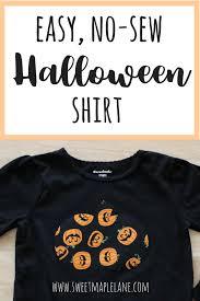 easy diy no sew halloween shirt sweet maple lane