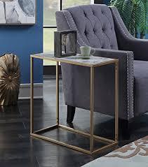 convenience concepts gold coast faux marble end table amazon com convenience concepts 413425m gold coast faux marble