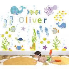 under the sea nursery wall art stickers ocean nursery wall art stickers