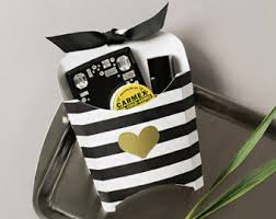 black and white striped gift bags fries bags etsy