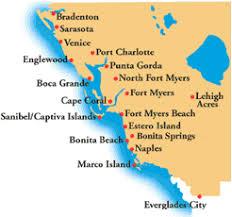 map of gulf coast florida florida coast map white