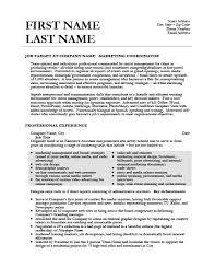 Sample Event Planner Resume by Marketing Coordinator Resume Sample Jennywashere Com