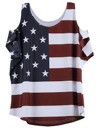 Kenya Flag Clothing 2018 American Flag Print Cold Shoulder T Shirt Wine Red L In Tees