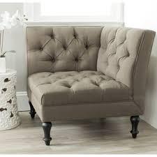 Beige Club Chair Carolina Accents Makenzie Corner Chair Natural Beige Off White