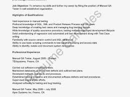 qa tester resume database test engineer sle resume 17 qa sle resume for banking 28 images banking resume in miami sales