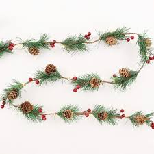 philips pine cone string lights philips 30ct christmas battery operated led pine with berry garland