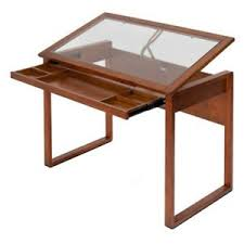 Studio Designs Drafting Tables Studio Designs Ponderosa Glass Topped Drafting Table 689988600978