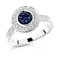 ladies rings pictures images Unique ladies diamond rings 14k gold blue sapphire engagement jpg