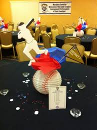 baseball centerpieces diy centerpiece for league baseball tournament party