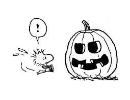 snoopy friend woodstock halloween pumpkin coloring