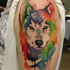 watercolor wolf by jon overton born this way arts
