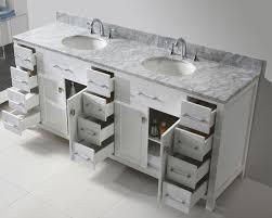 78 Bathroom Vanity 78 Caroline Parkway Bathroom Vanity In White With Marble Top