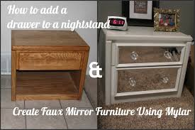 Mirrored Nightstand My So Called Diy Blog How To Add A Drawer To A Nightstand