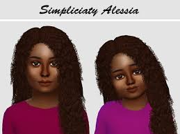 sims 4 kids hair alessia hair for kids and toddlers the sims 4 download simsdom