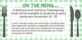 on the menu celebrate thanksgiving rock isd