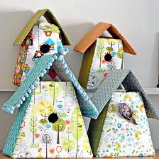 Easy Crafts To Decorate Your Home Decorate Your Home With Some Gorgeous Scrap Fabric Birdhouses