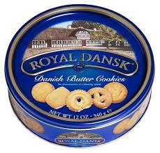 royal dansk butter cookies 12 oz tin by office depot