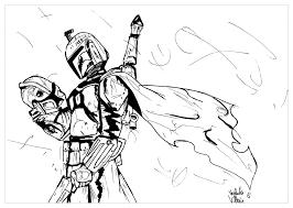 Instructive Boba Fett Coloring Pages Coloriage Star Wars Babo Par