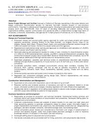 Assistant Project Manager Construction Resume Senior Program Manager Resume Template Billybullock Us