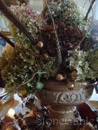 Fall Centerpieces With Feathers by Hydrangeas In Rustic Urn Tutorial Stonegable