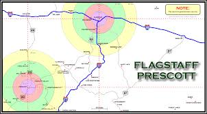 Map Of Tucson Map Of Area Around Flagstaff And Prescott Arizona Area A2z