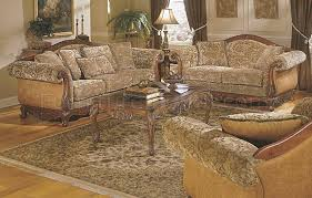 Chenille Sofa And Loveseat Barcelona 8299f 4pc Sofa Set In Floral Chenille By Homelegance