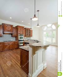 model luxury home interior kitchen arch window royalty free stock