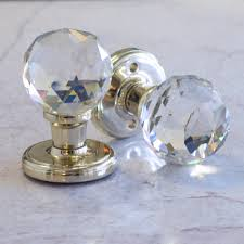 mortice glass door knobs clear faceted crystal mortice internal door knobs by pushka home