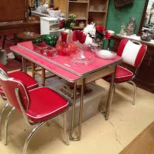 useful and cute decoration with retro kitchen table sets