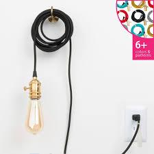 in pendant light cord set brass color cord company