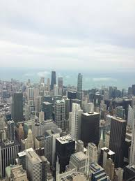 freshman sees chicago from the 96th floor of willis tower and