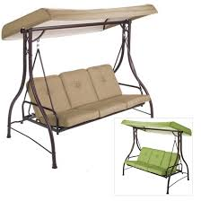 patio 3 person patio swing with canopy pythonet home furniture