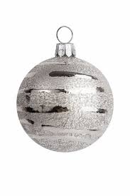Silver Metal Christmas Decorations by Christmas Decoration Silver Ball Decorations Stock Photo
