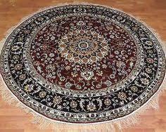 Round Rugs Ebay Persian Silk Rugs 8 U0027 Round Rugs Navy Silk Rug Circle Floor Carpet