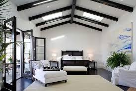 black cane bed transitional bedroom