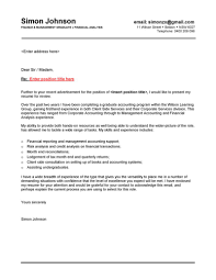 brilliant ideas of cover letter samples for finance jobs with