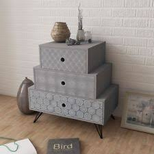 Grey Side Table Grey Bedside Tables And Cabinets Ebay