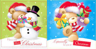 10 X Cute Bears U0026 Snowman Xmas Christmas Cards 2 Designs