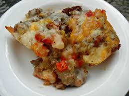 biscuits sausage u0026 gravy casserole the tasty fork