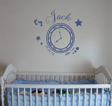 date birth memory clock date birth clock wall art decal