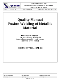 qc manual iso 3834 2 qm 02 final nondestructive testing welding