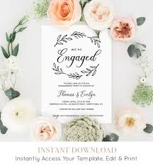 Wedding Announcement Template Engagement Invitation Template Printable Wedding Engagement