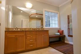 blue brown bathroom decoration using solid mahogany wood double