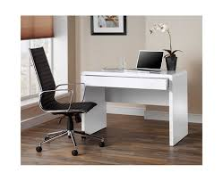 White Desk Luxor Gloss Workstation Desk With Hidden Drawer White Home