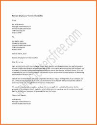 work termination letter employee termination letter casual