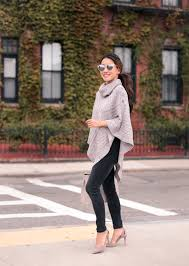 fall wardrobe the poncho sweater options for petites