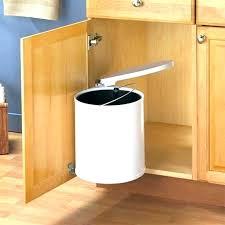 garbage can under the sink under sink garbage can rev a shelf trash can under the sink trash
